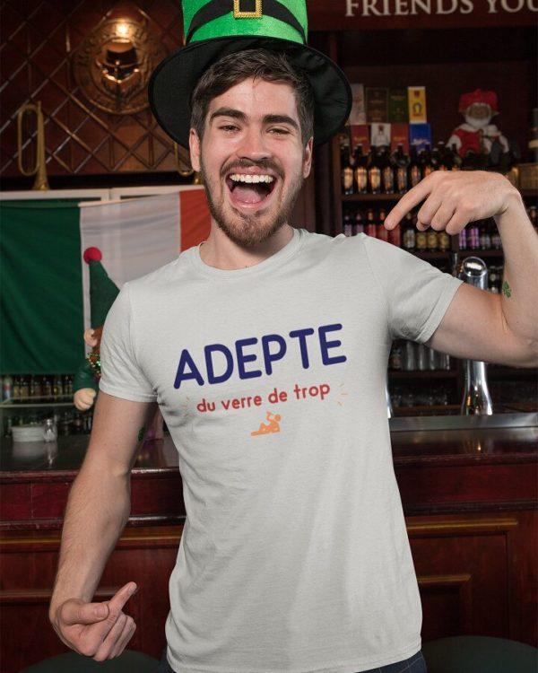 T-shirt Adepte du verre de trop