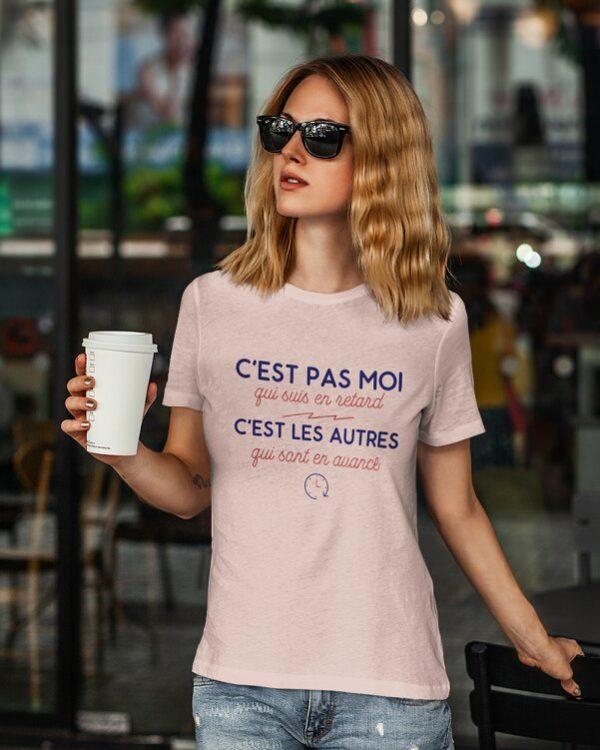T-shirt C'est pas moi qui suis en retard