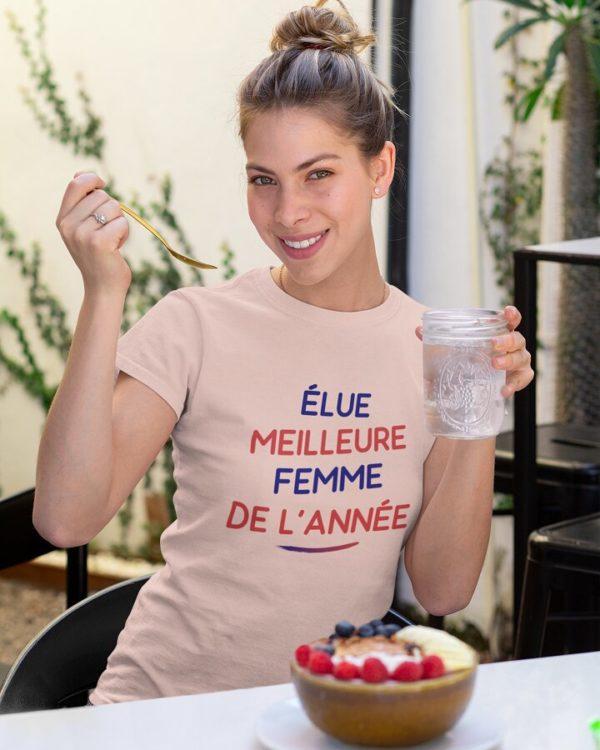 T-shirt Élue meilleure femme de l'année