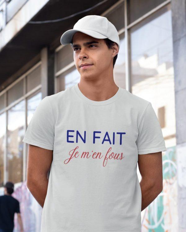 T-shirt En fait Je m'en fous