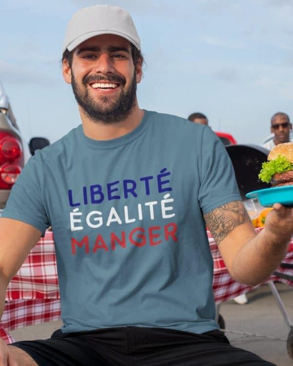 T-shirt Liberté Égalité Manger
