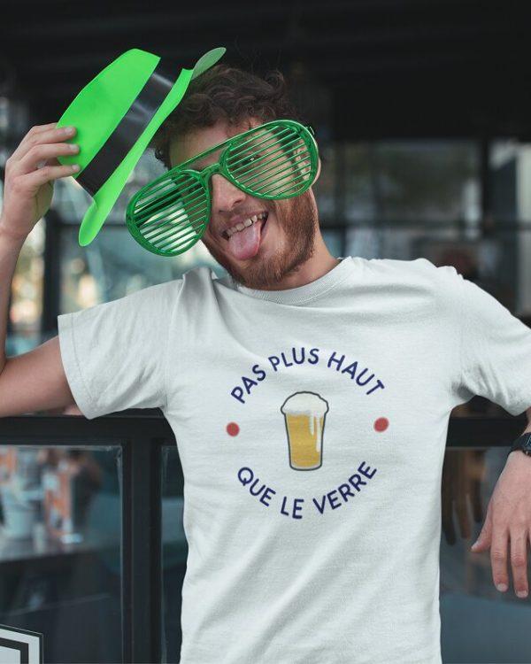 T-shirt Pas plus haut que le verre