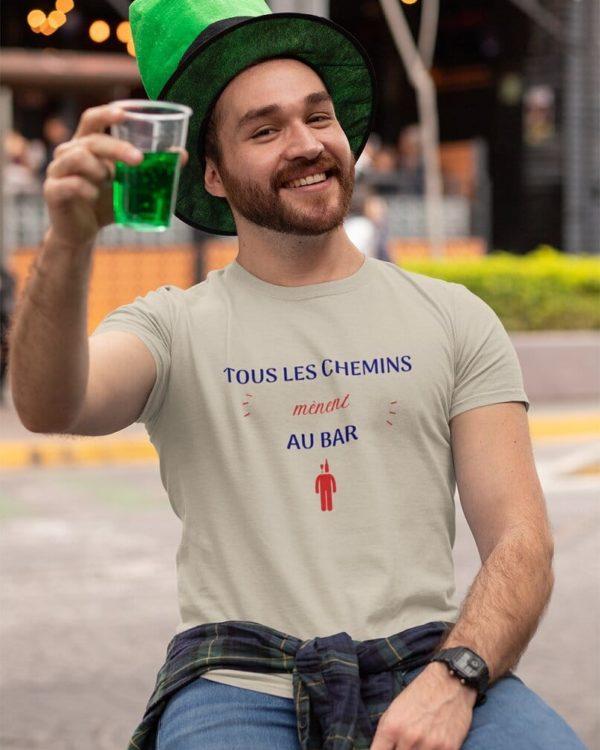 T-shirt Tous les chemins mènent au bar