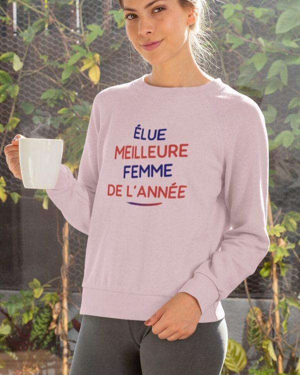 Sweatshirt Élue meilleure femme de l'année