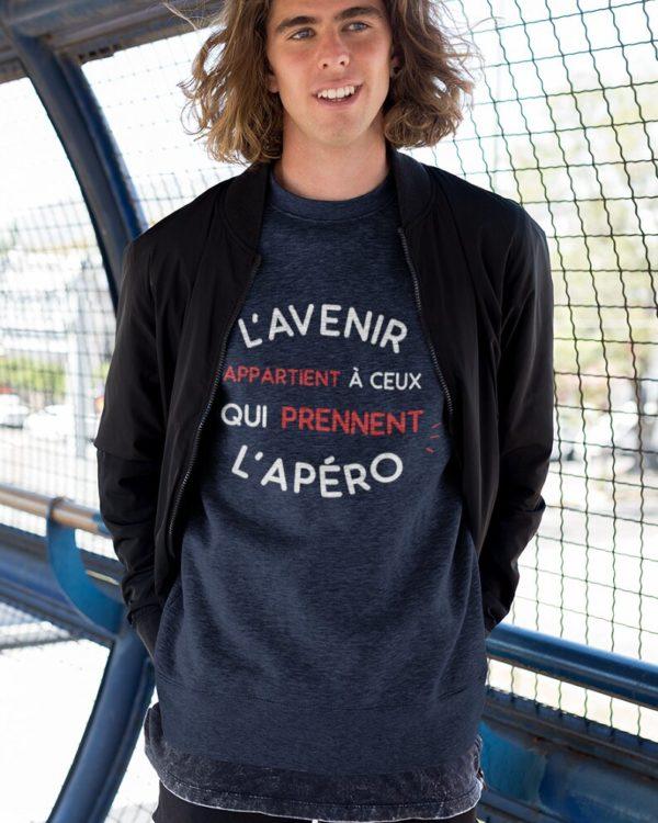 Sweatshirt L'avenir appartient à ceux qui prennent l'apéro