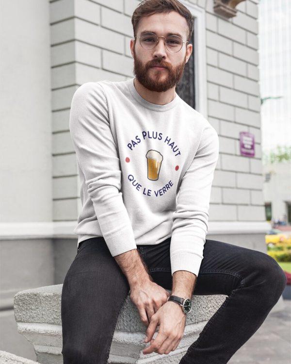 Sweatshirt Pas plus haut que le verre