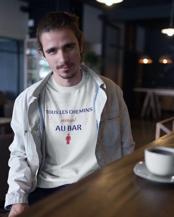 Sweatshirt Tous les chemins mènent au bar